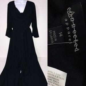 Connected Apparel Black Jumpsuit Sz 14